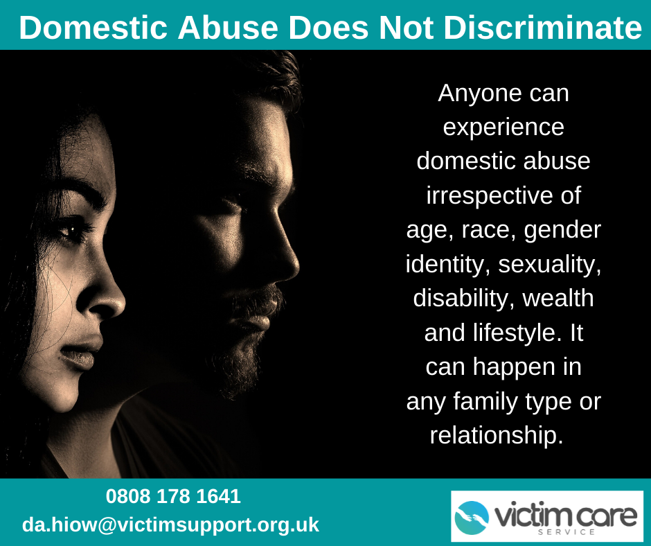 Domestic Abuse Poster with contact details