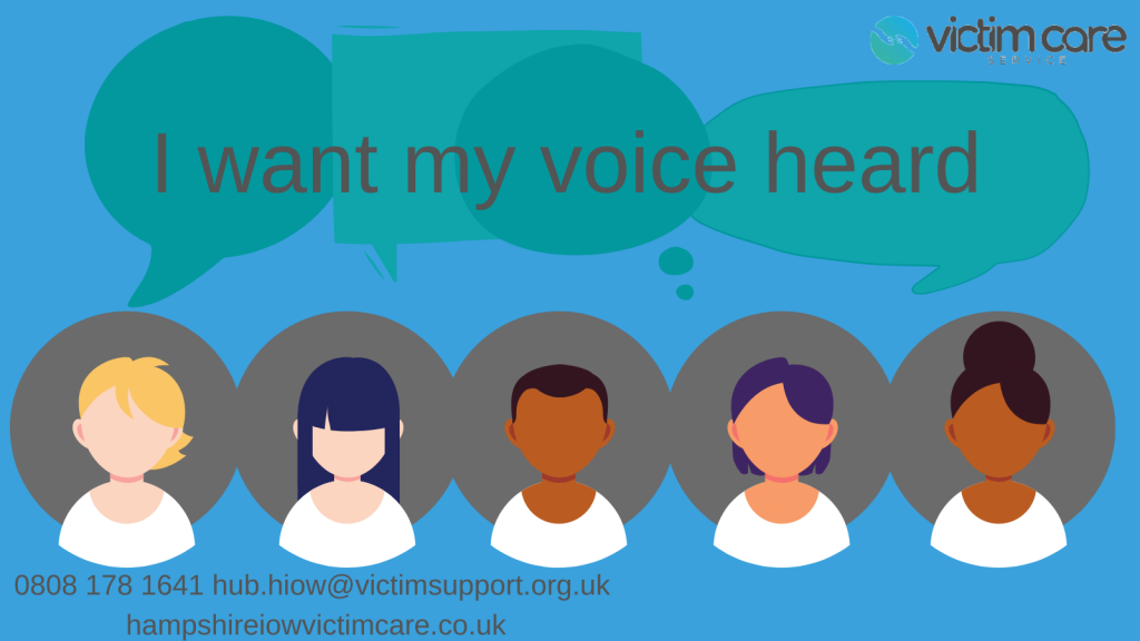 Goup of five people all saying I want my voice heard